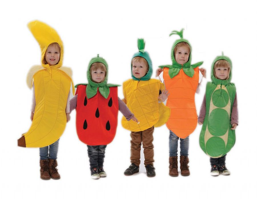 Children's Kids Boys Girls 5 a Day Set Fancy Dress Costumes Outfits